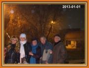 Újév ünneplése a szomszédokkal